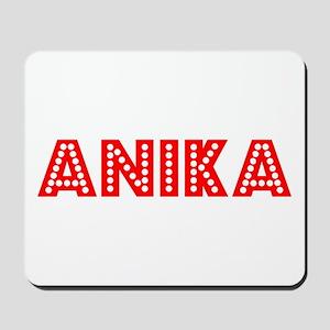 Retro Anika (Red) Mousepad