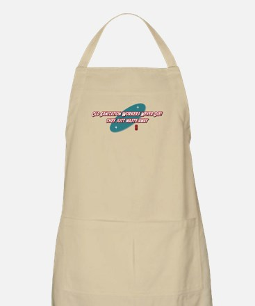 Old Sanitation Workers Never Die BBQ Apron