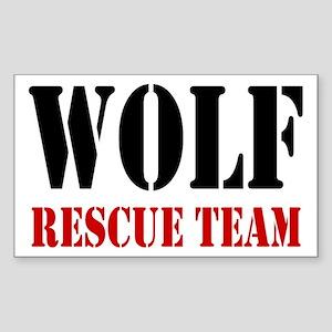 Wolf Rescue Team Rectangle Sticker