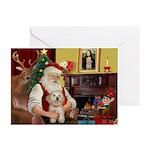 Santa's Havanese Puppy Greeting Cards (Pk of 10)