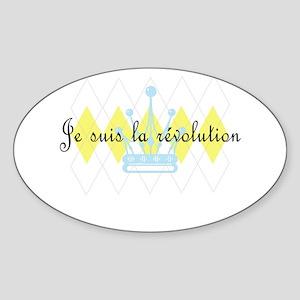 Je Suis La Revolution Oval Sticker