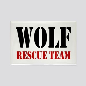 Wolf Rescue Team Rectangle Magnet