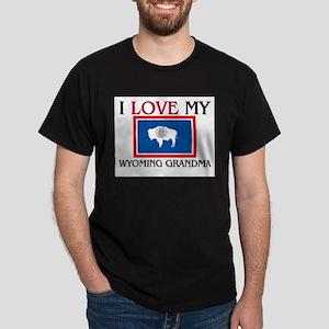 I Love My Wyoming Grandma Dark T-Shirt