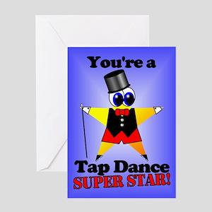 Tap Superstar Greeting Card