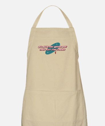 Old Hunters Never Die BBQ Apron