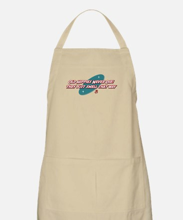 Old Hippies Never Die BBQ Apron