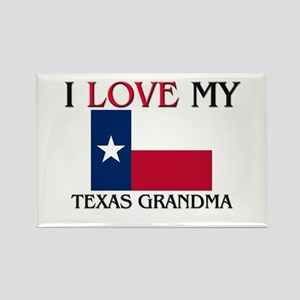 I Love My Texas Grandma Rectangle Magnet
