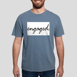 """engaged"" cursive w/ring White T-Shirt"