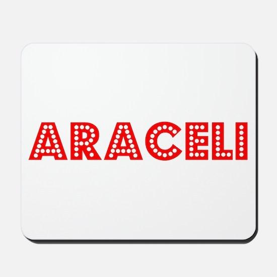 Retro Araceli (Red) Mousepad