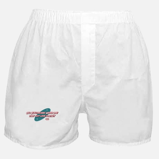 Old Electricians Never Die Boxer Shorts