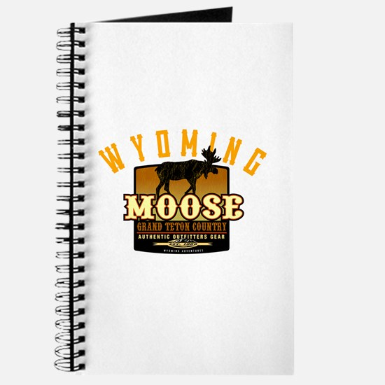 Cute Ski moose Journal