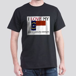 I Love My North Carolina Grandma Dark T-Shirt