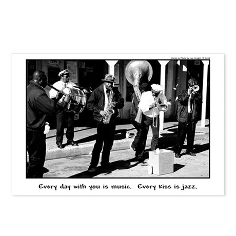Every Kiss Is Jazz - Postcards (Package of 8)