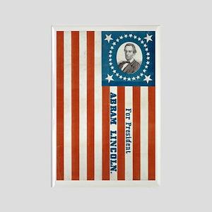 Lincoln Flag Rectangle Magnet