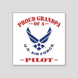 "Proud Grandpa Of A US Air F Square Sticker 3"" x 3"""
