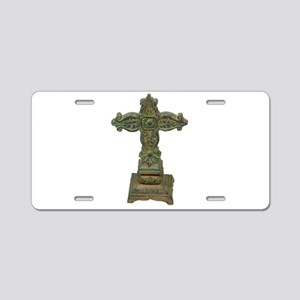 AntiqueCross032710 Aluminum License Plate