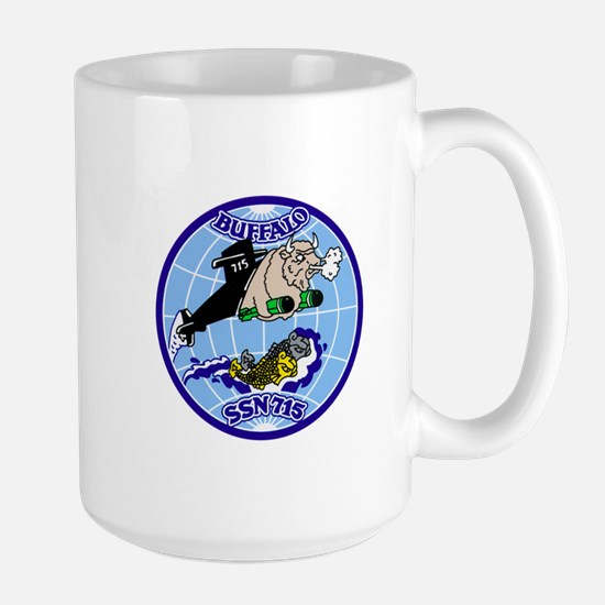 USS Buffalo SSN-715 Large Mug