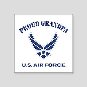 "Proud US Air Force Grandpa Square Sticker 3"" x 3"""