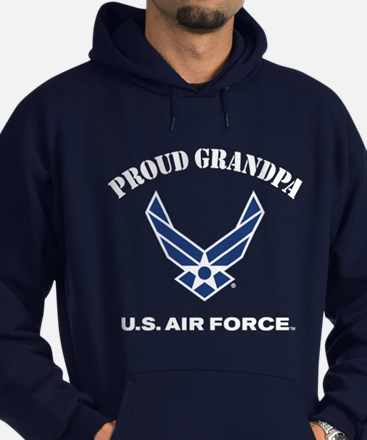 Proud US Air Force Grandpa Hoodie (dark)