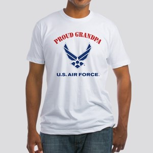 Proud US Air Force Grandpa Fitted T-Shirt