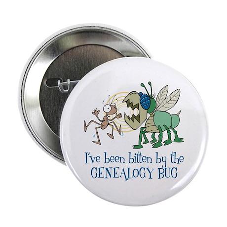 "Bitten by Genealogy Bug 2.25"" Button"
