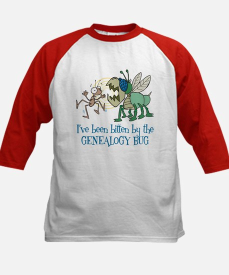 Bitten by Genealogy Bug Kids Baseball Jersey