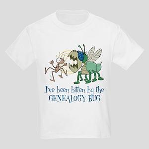 Bitten by Genealogy Bug Kids Light T-Shirt