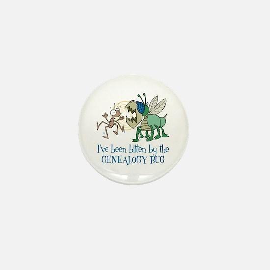 Bitten by Genealogy Bug Mini Button