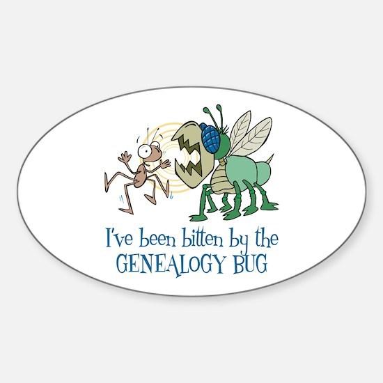 Bitten by Genealogy Bug Oval Bumper Stickers