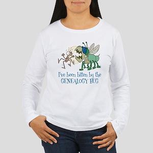 Bitten by Genealogy Bug Women's Long Sleeve T-Shir
