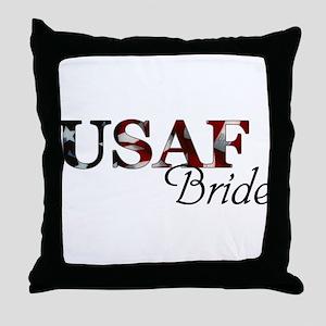 USAF Bride (Flag) Throw Pillow