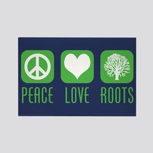 Peace Love Roots Rectangle Magnet