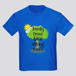 Trees Have Strong Roots Kids Dark T-Shirt