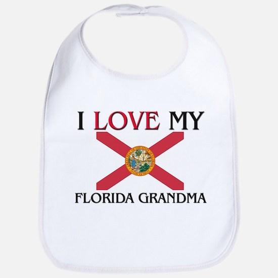 I Love My Florida Grandma Bib