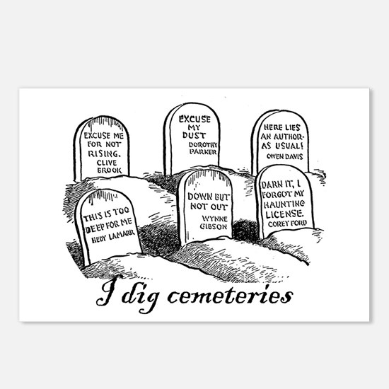 I Dig Cemeteries Postcards (Package of 8)