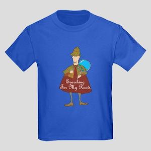 Genealogy Detective Kids Dark T-Shirt