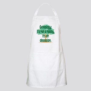 Genealogy Obsession BBQ Apron