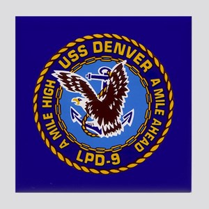 USS Denver LPD-9 Tile Coaster