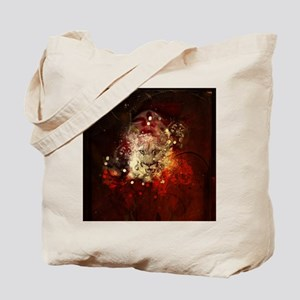 Awesome lion on vintage background Tote Bag