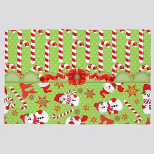 Candy Canes and Snowman Holidays 4' x 6' Rug