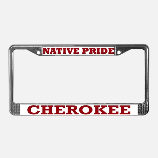 Native Pride Cherokee License Plate Frame