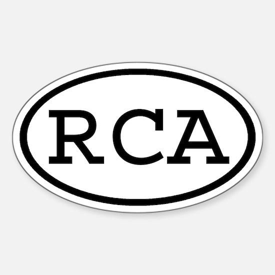 RCA Oval Oval Decal