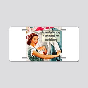 Lucky Laundry Aluminum License Plate