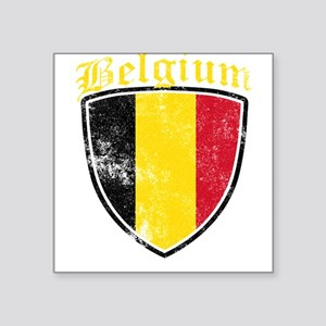 Belgium Flag Designs Sticker