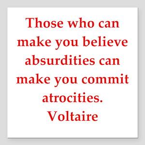 "Voltaire Square Car Magnet 3"" x 3"""