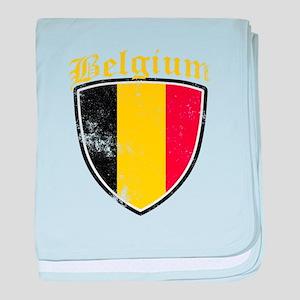 Belgium Flag Designs baby blanket