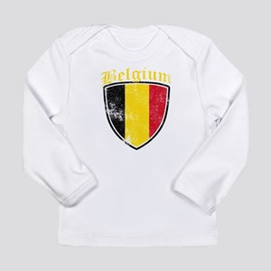 Belgium Flag Designs Long Sleeve T-Shirt