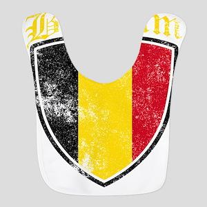 Belgium Flag Designs Polyester Baby Bib