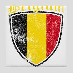 Belgium Flag Designs Tile Coaster
