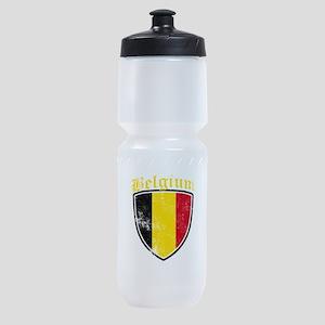 Belgium Flag Designs Sports Bottle